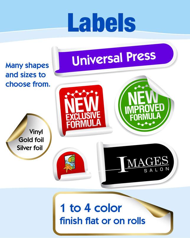 Labels/Stickers   Universal Press Inc  - Print & Copy Center